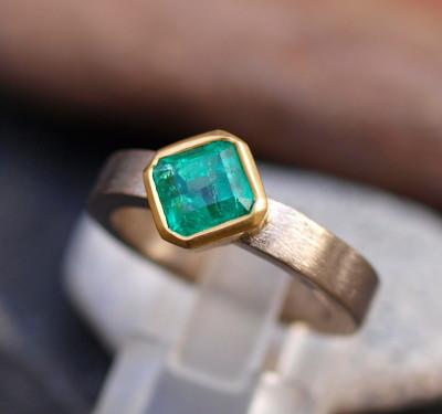 Unikat Ring Weißgold