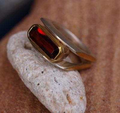 Designer Ring Doppelschiene