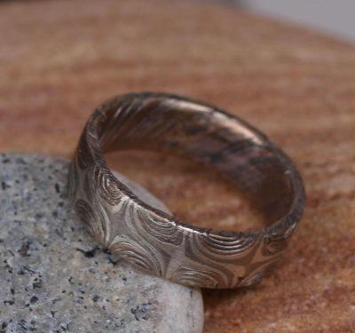 Unikat Ring Mokume