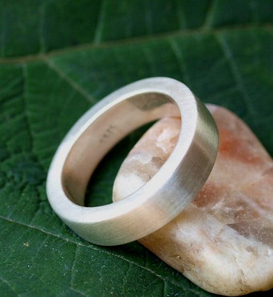 Schlichter Designer Ring Silber 925 vierkant massiv matt 63