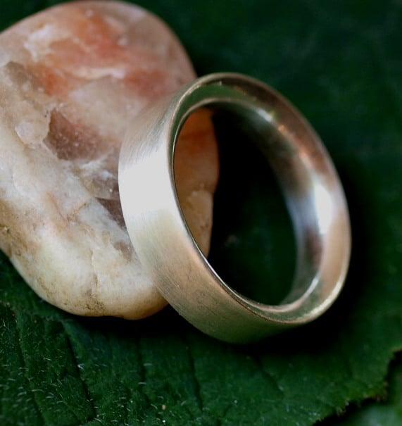 Schlichter Designer Ring Silber 925 massiv matt innen bombiert 57