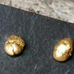 Ohrstecker Gold 999/750 Goldnuggets Unikat Nugget L