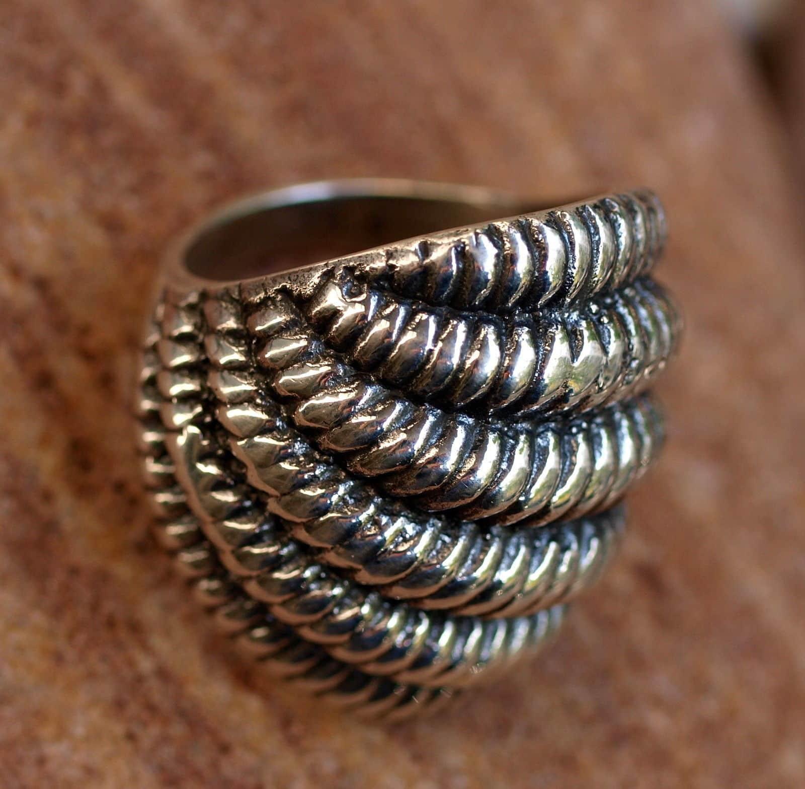 Designer Ring Silber 925 Muschel geschwärzt