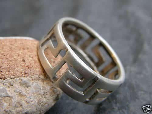 Designer Ring Silber 925 ausgesägtes Muster