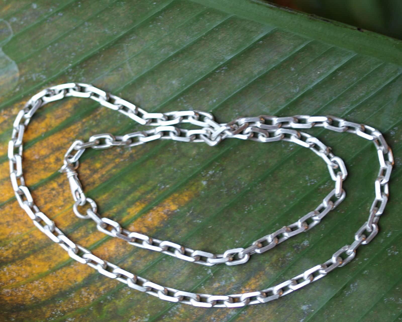 Kette Silber 925 Ankerkette massiv mattiert Herrenkette