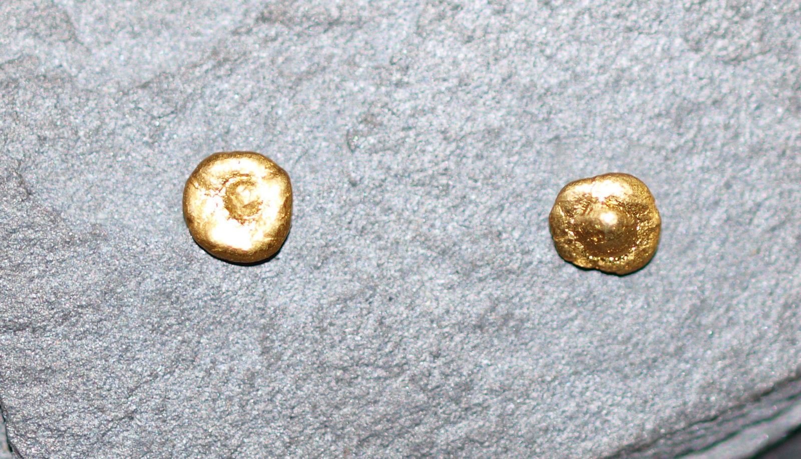 Ohrstecker Gold 999/750 Goldnuggets Unikat Nugget