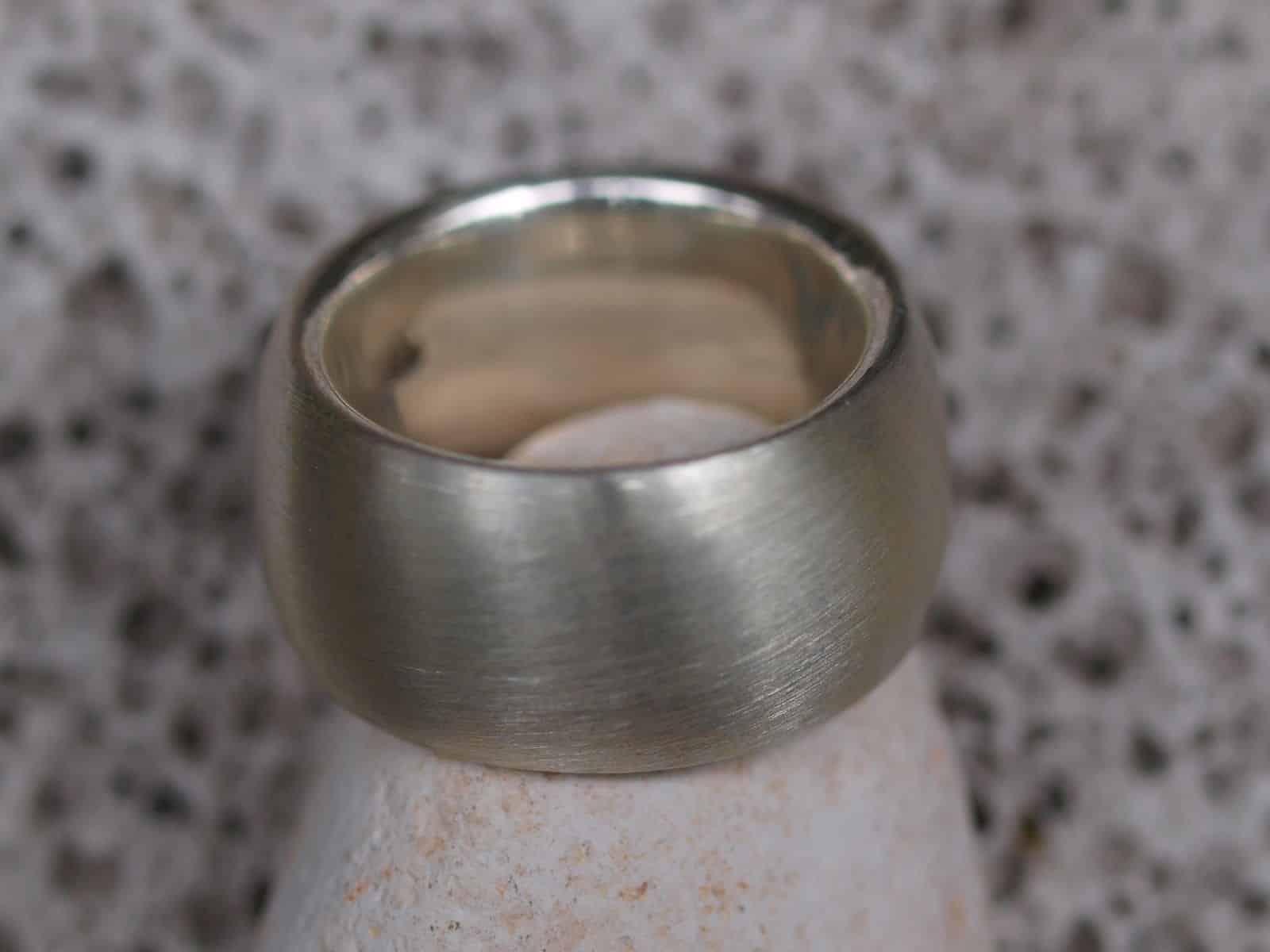 schlichter Designer Ring Silber 925 matt