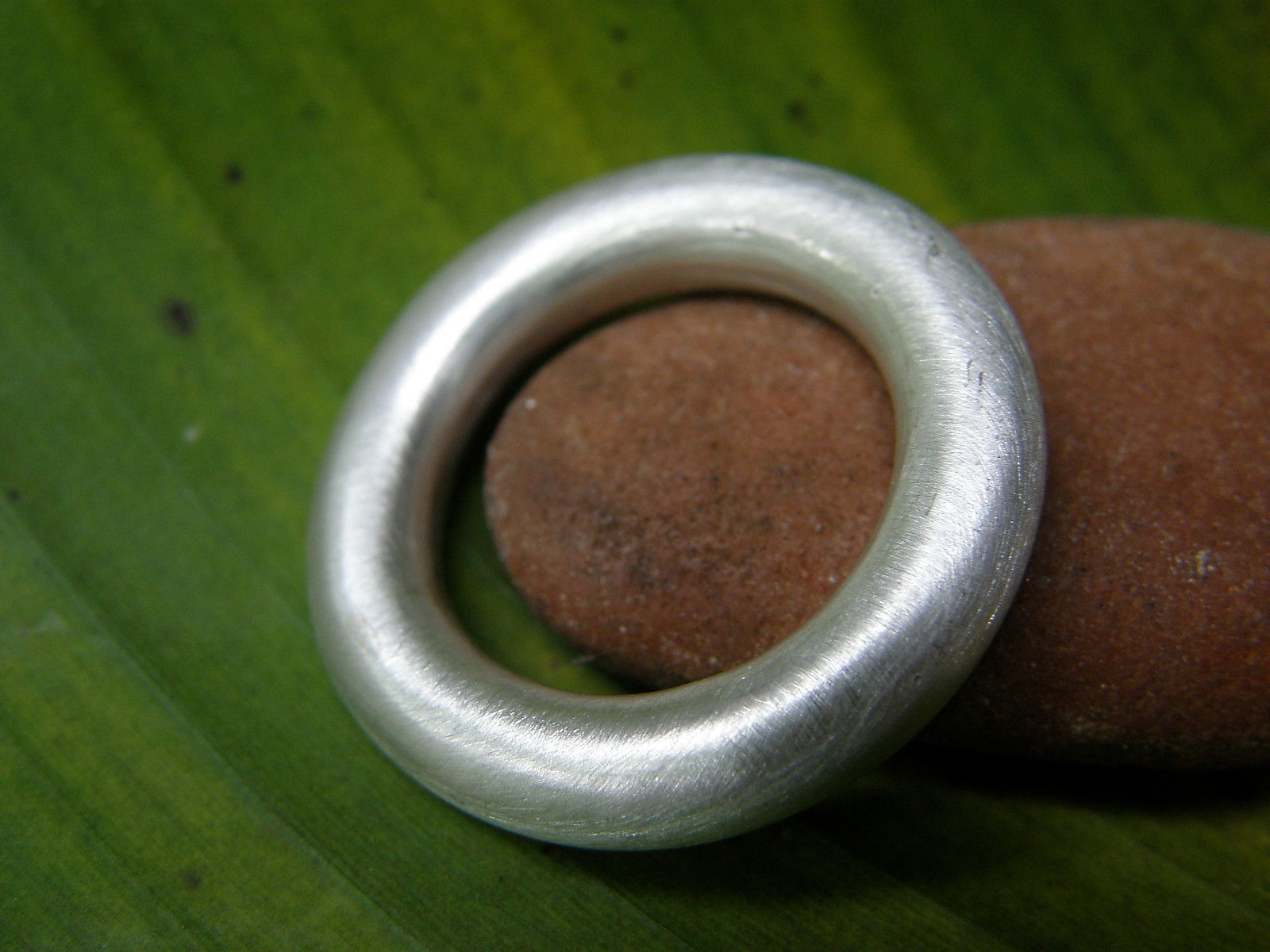 schlichter Designer Ring Silber 925 matt runde Schiene