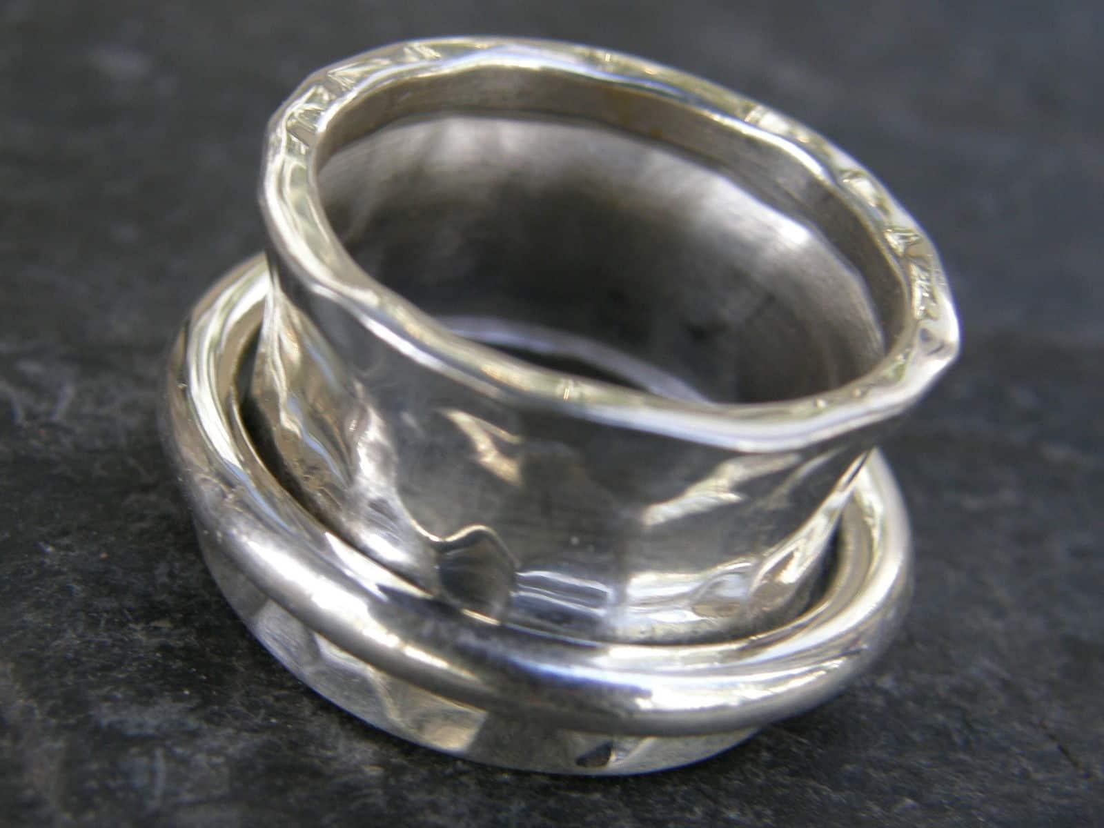 Designer Ring 55 Silber 925 geschmiedet Klingelring