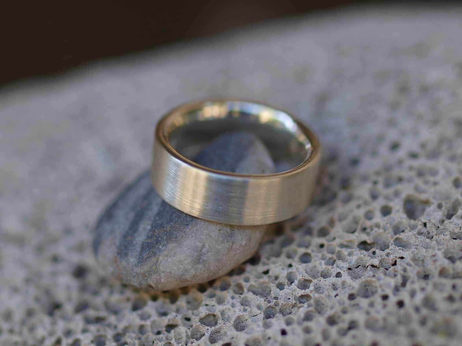 Schlichter Designer Ring Silber 925 massiv matt