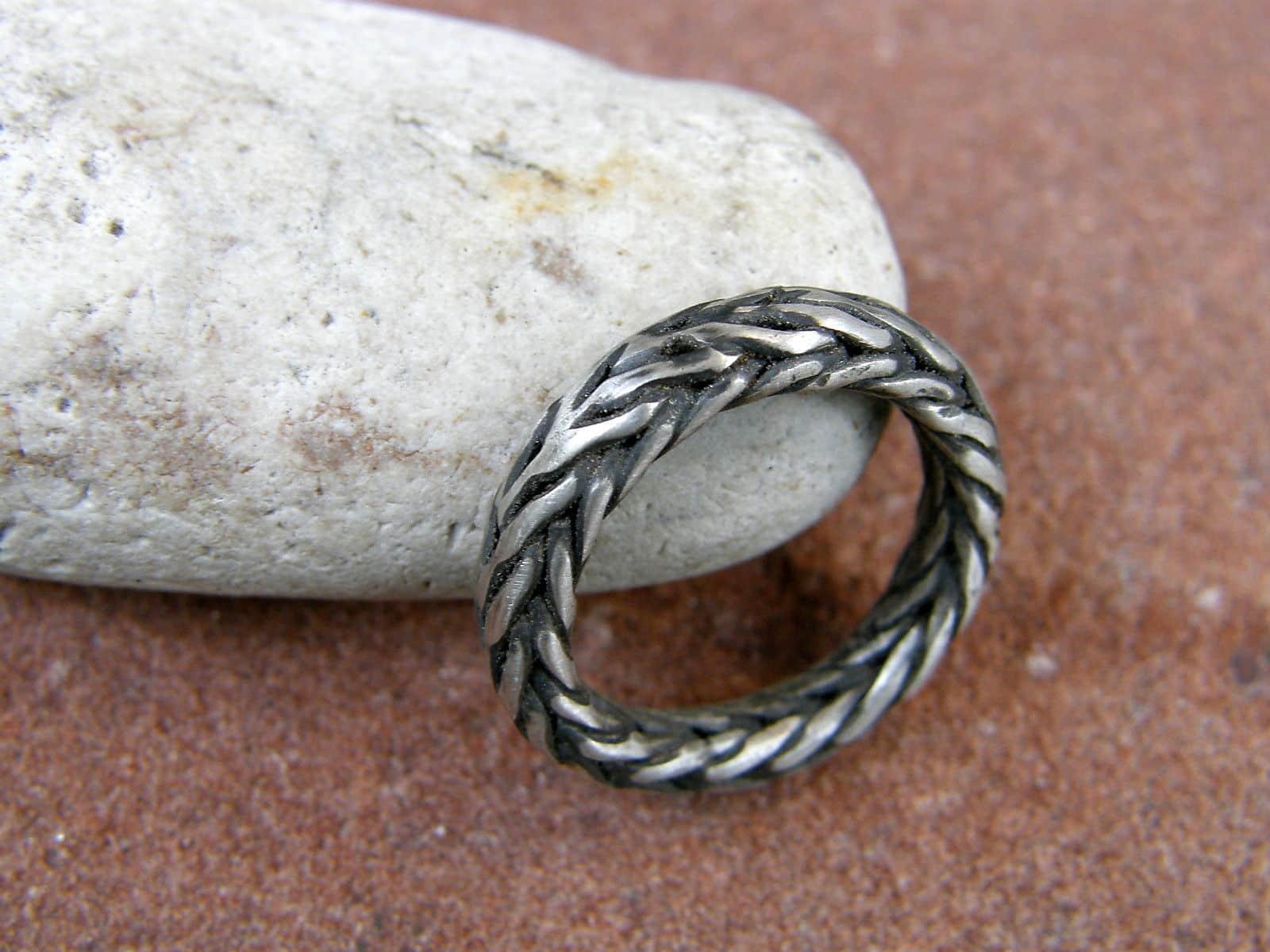 Unikat Ring Silber 925 Echsenring Schlangenring