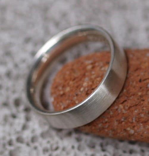 schlichter Designer Ring Silber 925 matt bombiert 64 auch für Männer