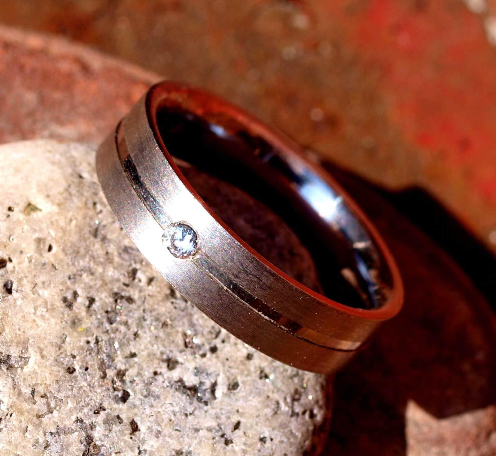 schlichter Designer Ring Silber 925  Zirkonia Brillantschliff