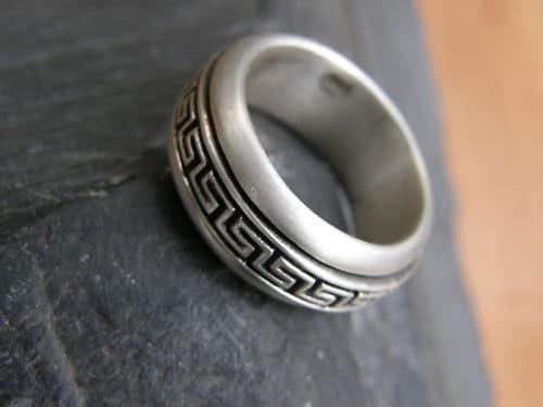 Designer Ring Silber 925 drehbares  Muster