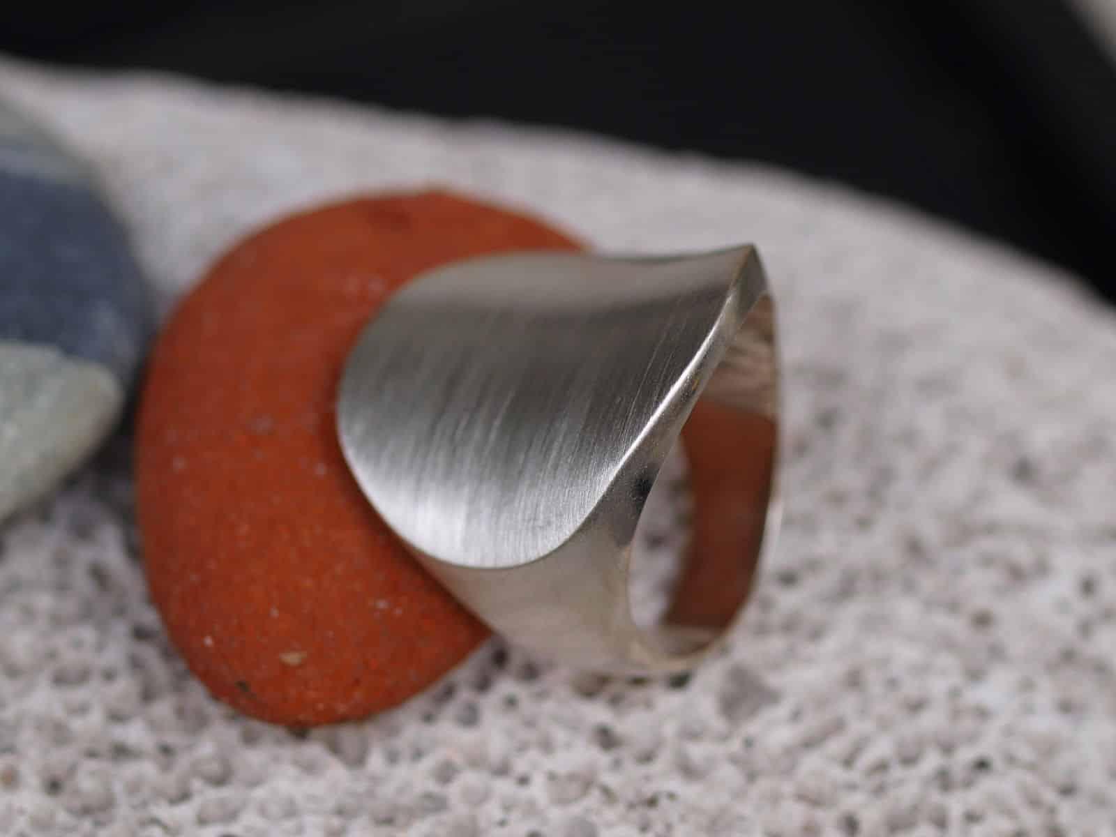 Designer Ring Silber 925 massiv Kreis