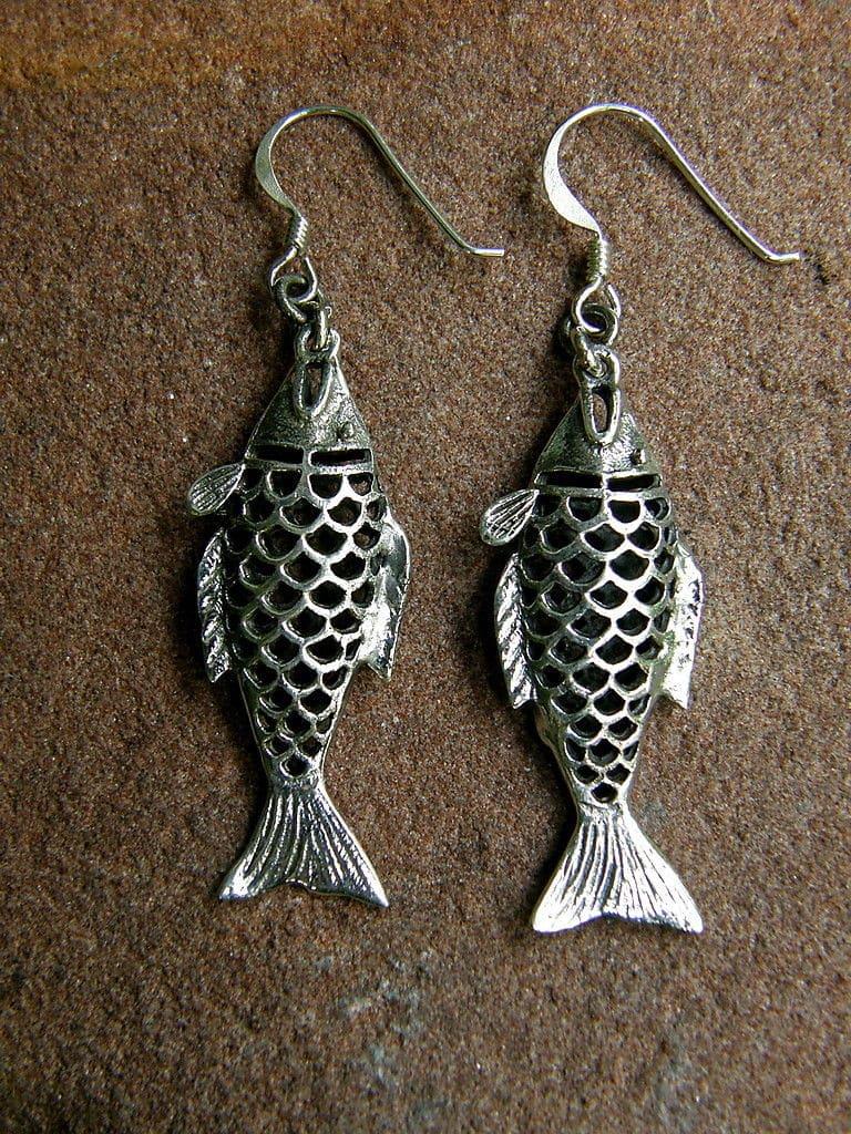 Ohrringe Silber 925 Fische Fischohrringe