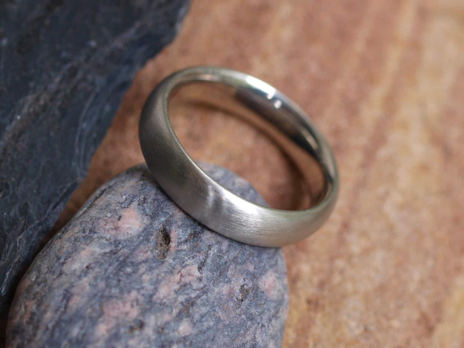 schlichter Unikat Ring Platin 950 matt Gr. 57