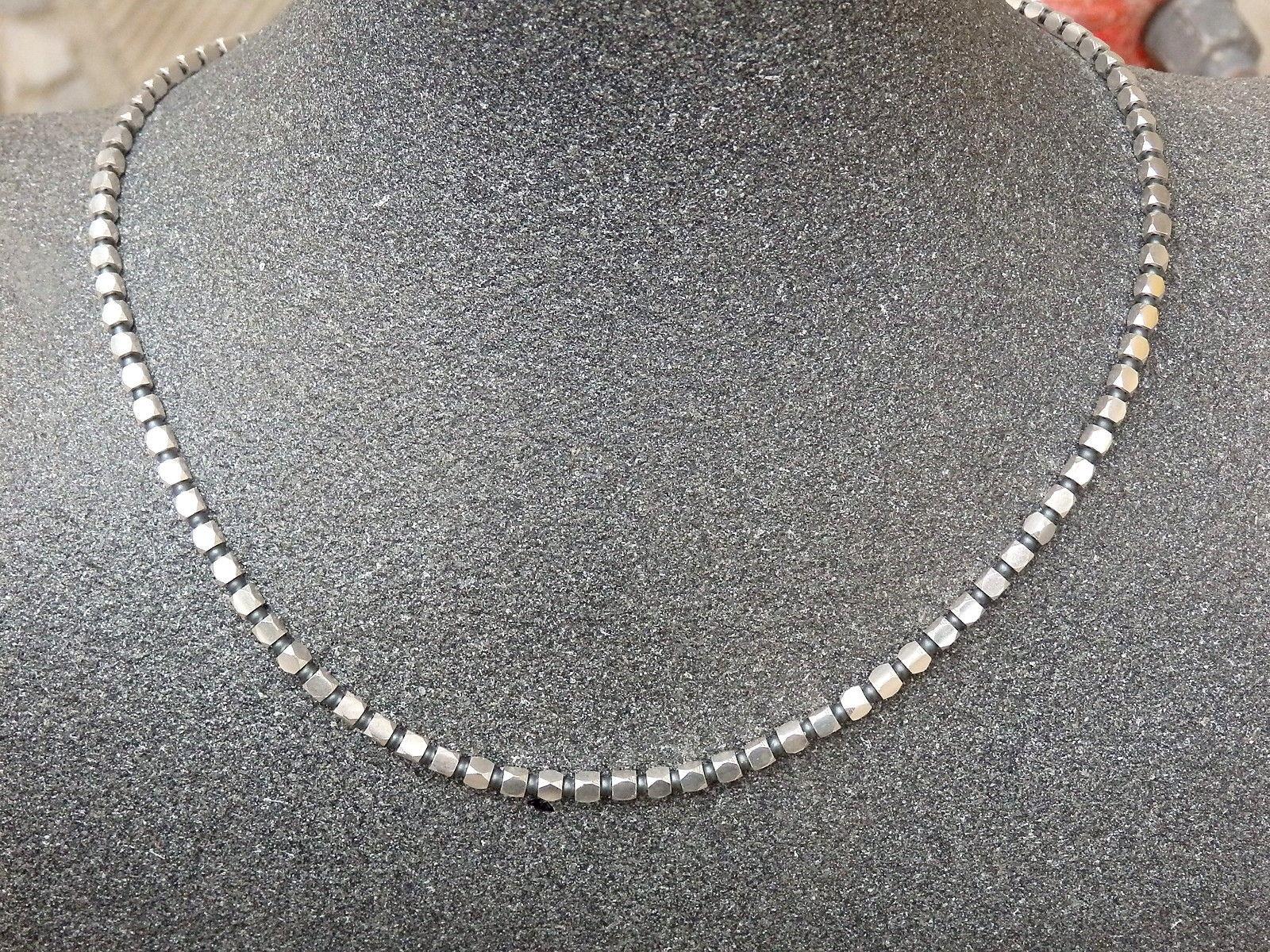 Designer Kette Silber 925 Hämatit 46,5 cm