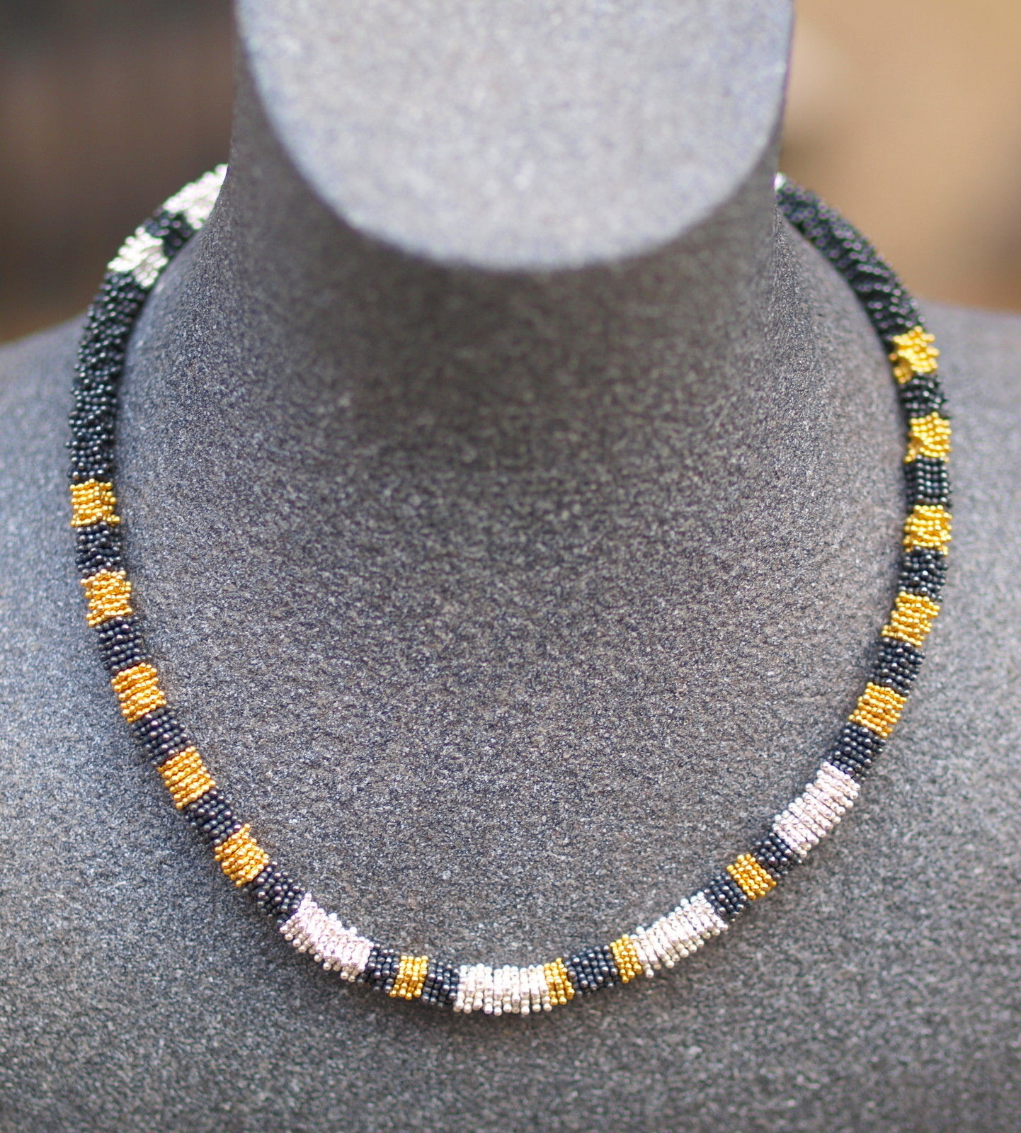 Leguan-Kette Silber 925 teilweise vergoldet bzw sulfidiert