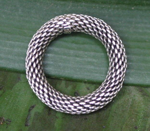 Unikat Ring Silber 925 Echsenring Schlangenring geschwärzte Struktur 59